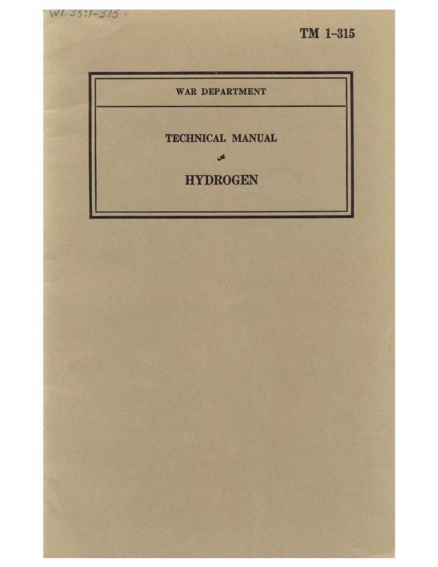 United States. War Department - TM 1-315 Hydrogen